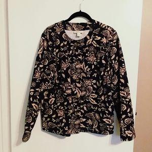 Appleseed's Floral & Leaf Print Cotton Jacket